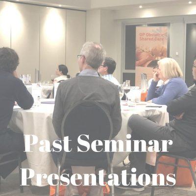 Past Seminar Presentations (1)